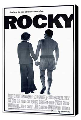 Rocky - 27 x 40 Movie Poster - Style C - Museum Wrapped Canvas