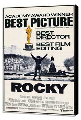 Rocky - 27 x 40 Movie Poster - Style G - Museum Wrapped Canvas