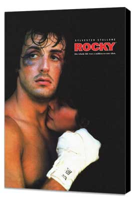 Rocky - 27 x 40 Movie Poster - Style I - Museum Wrapped Canvas