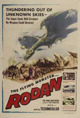 Rodan The Flying Monster - 27 x 40 Movie Poster - Style A