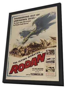 Rodan The Flying Monster - 11 x 17 Movie Poster - Style A - in Deluxe Wood Frame