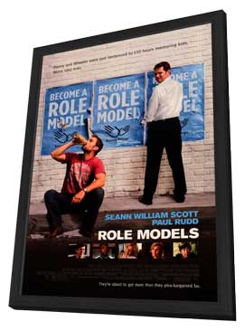 Role Models - 27 x 40 Movie Poster - Style A - in Deluxe Wood Frame