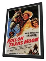 Roll on Texas Moon - 27 x 40 Movie Poster - Style A - in Deluxe Wood Frame