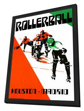 Rollerball - 11 x 17 Poster - Foreign - Style B - in Deluxe Wood Frame