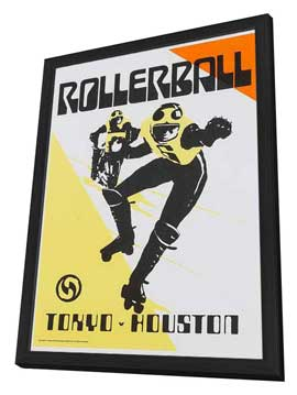 Rollerball - 11 x 17 Movie Poster - Style F - in Deluxe Wood Frame