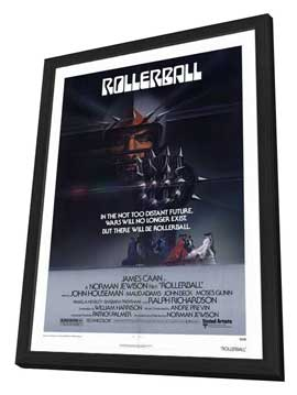Rollerball - 27 x 40 Movie Poster - Style A - in Deluxe Wood Frame