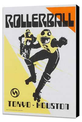 Rollerball - 11 x 17 Movie Poster - Style F - Museum Wrapped Canvas