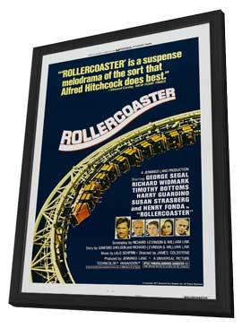 Rollercoaster - 27 x 40 Movie Poster - Style B - in Deluxe Wood Frame