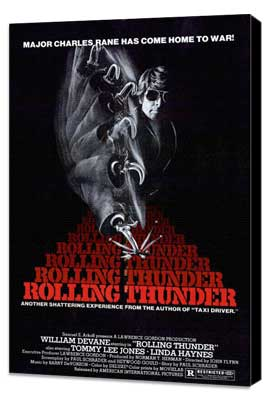 Rolling Thunder - 27 x 40 Movie Poster - Style A - Museum Wrapped Canvas