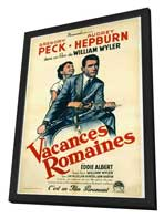 Roman Holiday - 11 x 17 Movie Poster - French Style B - in Deluxe Wood Frame