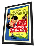 Roman Holiday - 27 x 40 Movie Poster - Style A - in Deluxe Wood Frame