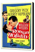 Roman Holiday - 11 x 17 Movie Poster - Style A - Museum Wrapped Canvas