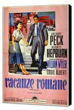 Roman Holiday - 11 x 17 Movie Poster - Italian Style A - Museum Wrapped Canvas