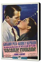 Roman Holiday - 11 x 17 Movie Poster - Italian Style B - Museum Wrapped Canvas