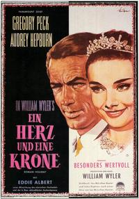 Roman Holiday - 11 x 17 Movie Poster - German Style A