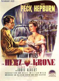 Roman Holiday - 11 x 17 Movie Poster - German Style B