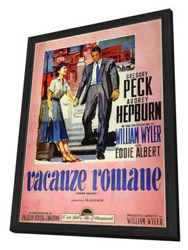 Roman Holiday - 11 x 17 Movie Poster - Italian Style A - in Deluxe Wood Frame