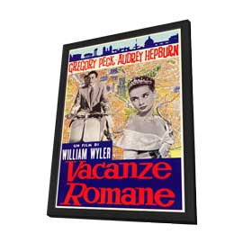 Roman Holiday - 27 x 40 Movie Poster - Italian Style A - in Deluxe Wood Frame