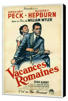 Roman Holiday - 11 x 17 Movie Poster - French Style B - Museum Wrapped Canvas