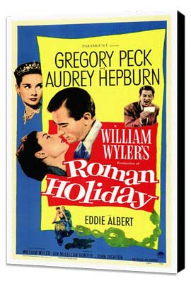 Roman Holiday - 27 x 40 Movie Poster - Style A - Museum Wrapped Canvas