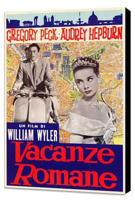 Roman Holiday - 27 x 40 Movie Poster - Italian Style A - Museum Wrapped Canvas