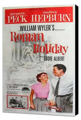 Roman Holiday - 20 x 40 Movie Poster - Style A - Museum Wrapped Canvas