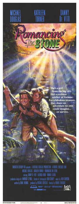 Romancing the Stone - 14 x 36 Movie Poster - Insert Style A