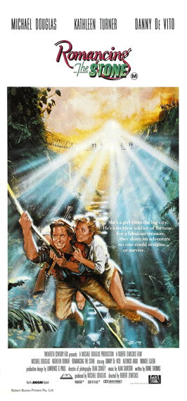 Romancing the Stone - 13 x 30 Movie Poster - Australian Style A