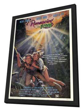Romancing the Stone - 27 x 40 Movie Poster - Style A - in Deluxe Wood Frame