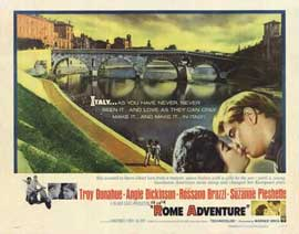 Rome Adventure - 22 x 28 Movie Poster - Half Sheet Style A