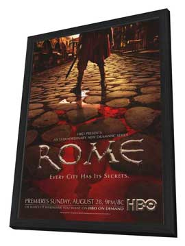 Rome - 27 x 40 TV Poster - Style B - in Deluxe Wood Frame