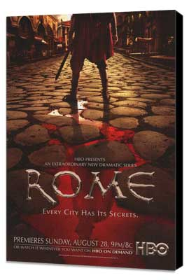 Rome - 27 x 40 TV Poster - Style B - Museum Wrapped Canvas