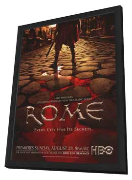 Rome - 11 x 17 TV Poster - Style F - in Deluxe Wood Frame