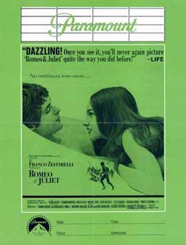Romeo & Juliet - 11 x 17 Movie Poster - Style B