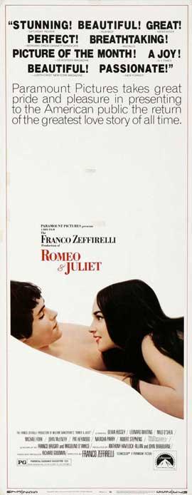Romeo & Juliet - 14 x 36 Movie Poster - Insert Style B