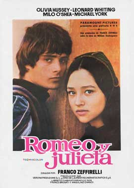 Romeo & Juliet - 11 x 17 Movie Poster - Spanish Style A