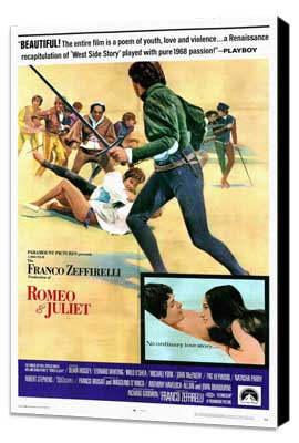 Romeo & Juliet - 27 x 40 Movie Poster - Style B - Museum Wrapped Canvas