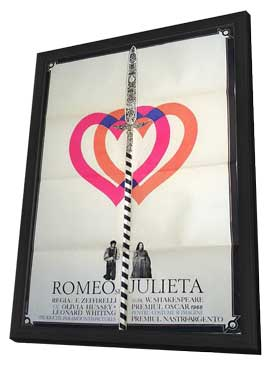 Romeo & Juliet - 11 x 17 Movie Poster - Romanian Style A - in Deluxe Wood Frame