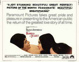Romeo and Juliet - 22 x 28 Movie Poster - Half Sheet Style A