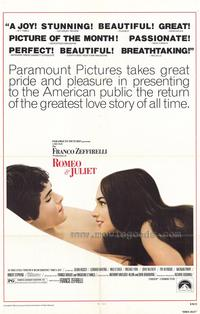 Romeo and Juliet - 43 x 62 Movie Poster - Bus Shelter Style A