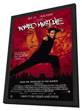 Romeo Must Die - 11 x 17 Movie Poster - Style A - in Deluxe Wood Frame