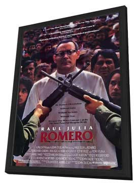Romero - 11 x 17 Movie Poster - Style A - in Deluxe Wood Frame