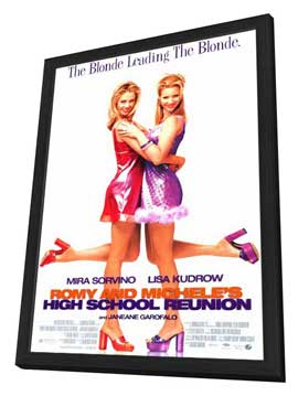 Romy and Michele's High School Reunion - 27 x 40 Movie Poster - Style A - in Deluxe Wood Frame
