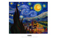 Ron English - 11 x 17 - Muslim Starry Night