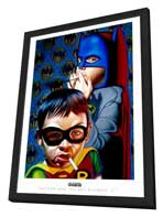 Ron English - 11 x 17 - Batman and the Boy Blunder 2 - in Deluxe Wood Frame