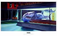 Ron English - 11 x 17 - Night Sharks