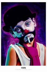 Ron English - 11 x 17 - Tramp Clown Boy