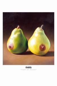Ron English - 24 x 36 - Pair of Pears