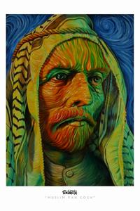 Ron English - 11 x 17 - Muslim Van Gogh