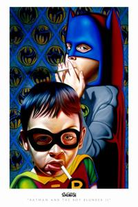 Ron English - 24 x 36 - Batman and the Boy Blunder 2